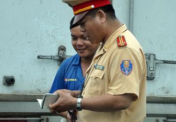 Hoạt động tuần tra, kiểm soát của CSGT. (Ảnh có tính minh họa) Ảnh: PN