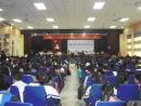 Hội trường lớn nơi tư vấn pháp luật cho các em học sinh khiếm thị